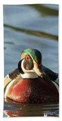 Wood Duck 3 Beach Sheet