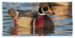 Wood Duck 4 Beach Sheet