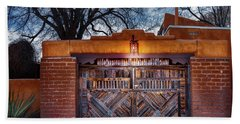 Wooden Gate In The Eve Beach Towel