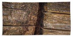 Wooden Wall Beach Towel