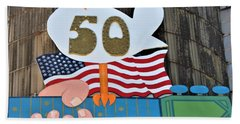 Woodstock 50th Anniversary Beach Towel