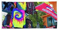 Woodstock Peace And Love 1 Beach Towel