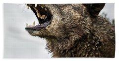 Woof Wolf Beach Towel