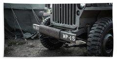 World War II Us Army Mp Jeep Beach Towel