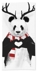 Xmas Panda  Beach Towel