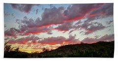 Beach Towel featuring the photograph Y Cactus Sunset  11 by Judy Kennedy