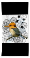 Y Is For Yellow Billed Kingfisher Beach Towel