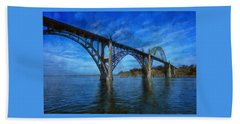 Yaquina Bay Bridge From South Beach Beach Sheet