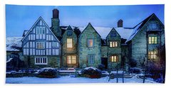 Beach Towel featuring the photograph Ye Olde Manor by Edmund Nagele