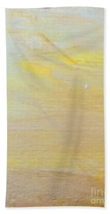 Beach Towel featuring the painting Yellow #2 by Maria Langgle