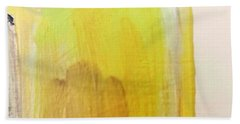 Beach Towel featuring the painting Yellow #3 by Maria Langgle
