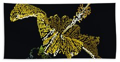 Yellow Bedazzled Hibiscus   Beach Towel