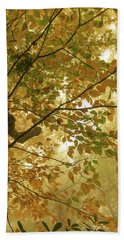 Yellow Fall Leaves - Blue Ridge Parkway Beach Towel