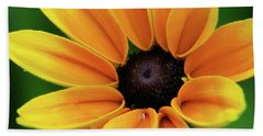 Yellow Flower Black Eyed Susan Beach Towel