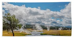Beach Towel featuring the photograph Yellowstone Rising by Matthew Irvin