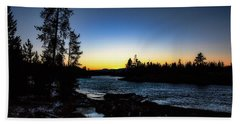 Beach Towel featuring the photograph Yellowstone River by Pete Federico