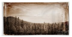 Yosemite National Park Forest Of Trees Collection A Vintage Look Beach Sheet