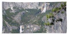 Yosemite National Park Glacier Point Of View Verna Falls Nevada Falls Beach Sheet