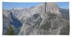 Yosemite National Park Half Dome Rock ,, A Glacier Point Of View Panorama Beach Sheet