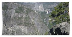 Yosemite National Park Half Dome Twin Waterfalls Snow Capped Mountains John Shiron's Shadow Beach Sheet