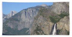 Yosemite National Park Panorama Yosemite Valley Bridal Veil Falls Half Dome Beach Sheet