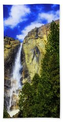 Yosemite Valley Fall In The Clouds Beach Towel