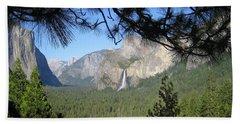 Yosemite Valley Yosemite National Park Bridal Veil Falls El Capitan Half Dome A Panoramic View Beach Sheet