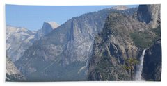 Yosemite Valley Yosemite National Park Half Dome Rock Bridal Veil Fall A Nature's Beauty Beach Sheet