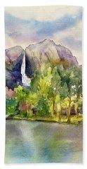 Yosemite Waterfalls Beach Towel