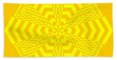 Young At Heart Yellow Beach Towel