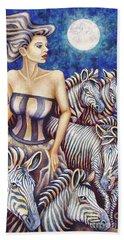 Zebra Moon Beach Towel