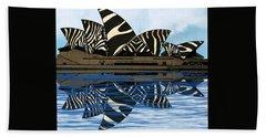 Zebra Opera House 4 Beach Towel