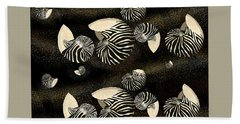 Zebra Pattern Nautilus Shells6 Beach Towel