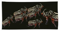 Zebra Pattern Rhinoceros Beetle 3 Beach Towel