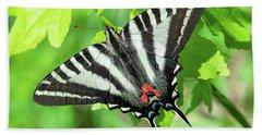 Zebra Swallowtail Din0279 Beach Sheet