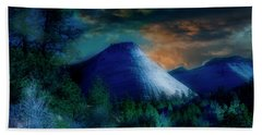 Zion The Great White Throne Beach Towel