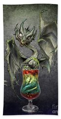 Zombie Dragon Beach Towel
