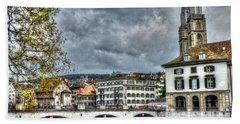 Zurich Switzerland Beach Towel