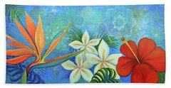Red Hibiscus Beach Towels