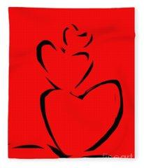 A Stack Of Hearts Fleece Blanket