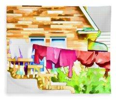 A Summer's Day - Digital Art Fleece Blanket