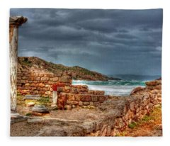 Ancient Ruins In Kefalos Kos Greece Fleece Blanket