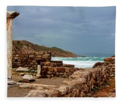 Ancient Ruins In Kefalos Kos Fleece Blanket
