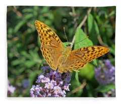 Balkan Fritillary Fleece Blanket
