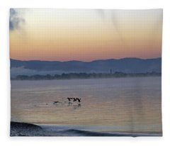 Birds At Dawn Fleece Blanket