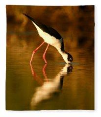 Stilt In Gold Fleece Blanket
