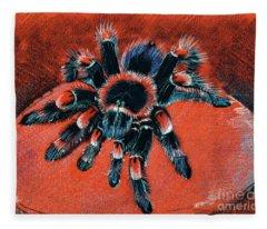 Brachypelma Smithi Redknee Tarantula  Fleece Blanket