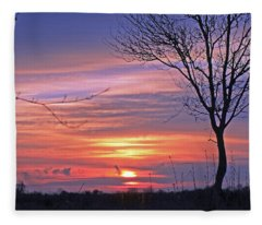 Countryside Sunset Fleece Blanket