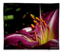 Day Lillies Fleece Blanket
