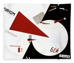Drive Red Wedges In White Troops 1920 Fleece Blanket